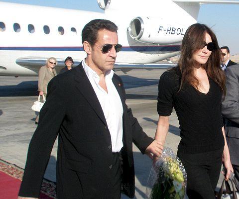Sarkozy y Bruno en Egipto